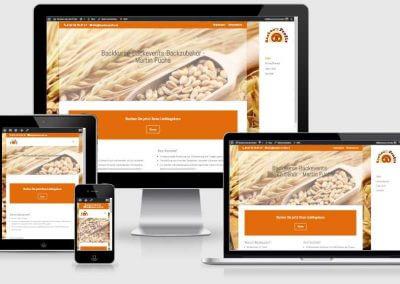 Webseite für Backen wie die Profis