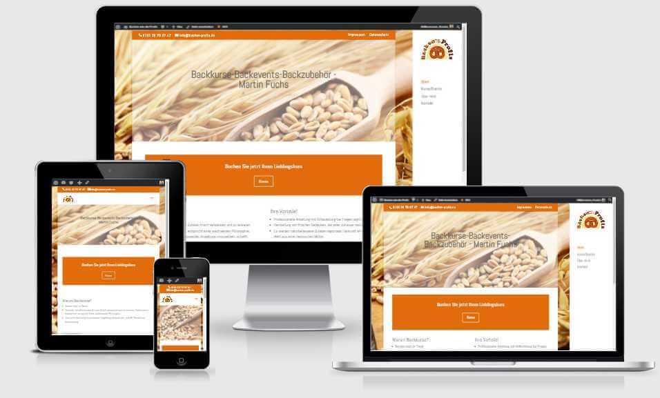 Webseite Backen wie die Profis - erstellt von Franka Ettwein
