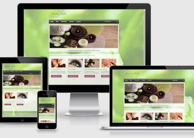 Webseite für Kosmetik Atelier Diez