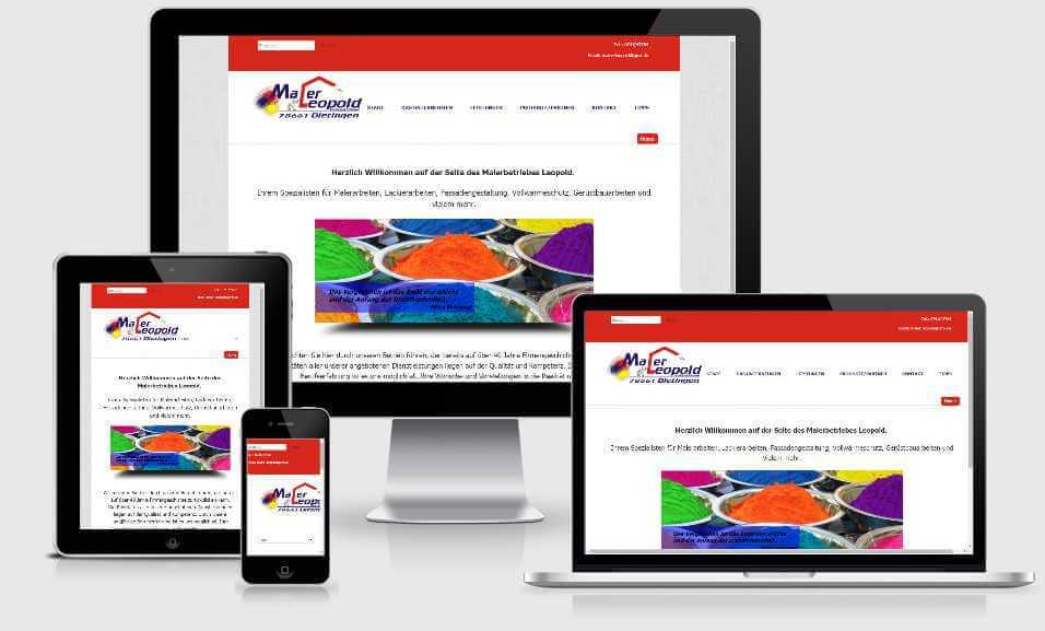 Webseite für Maler Leopold