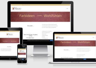 Web-Visitenkarte für Maler Palazzo