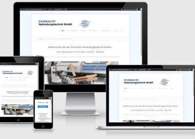 Webseite für Ohnmacht Verbindungstechnik GmbH