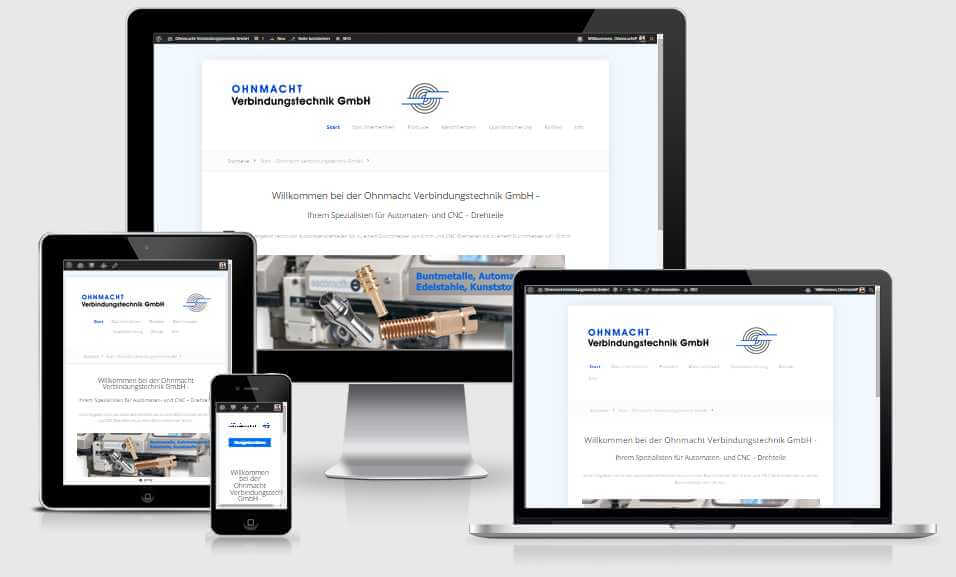 Online Marketing Ettwein Website für Ohnmacht Drehteile