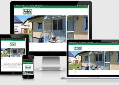 Webseite für Fensterbau Arnold