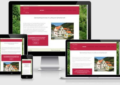 Website für Seminarhaus Krone in Schenkenzell