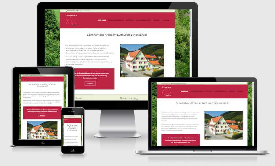 Online Marketing Ettwein Website für Seminarhaus Krone Schenkenzell