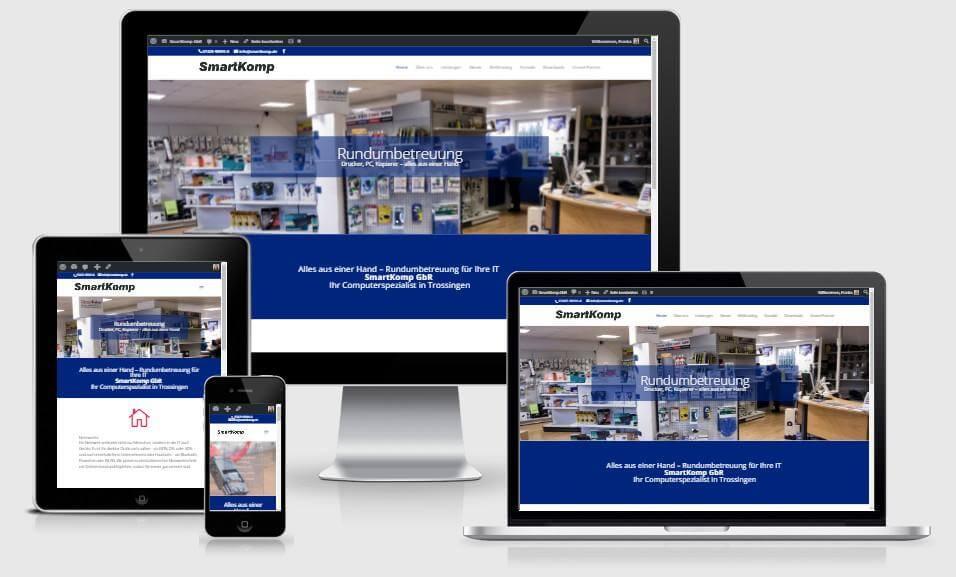 Website für Smartkomp Online Marketing Ettwein