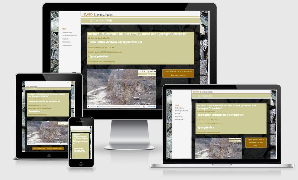 Webdesign für Bohren Sprengen Schneider