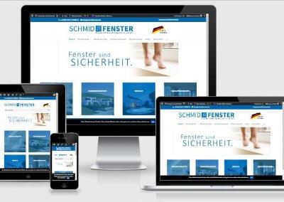 Website für Fensterbau Schmid GmbH