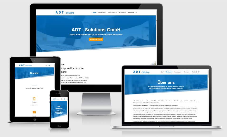 Website für ADT-Solutions GmbH