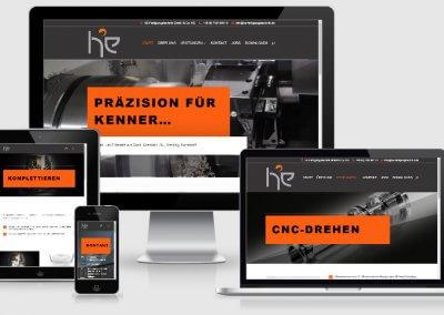 Webseite für HE-Fertigungstechnik GmbH & Co. KG