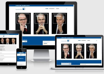 Website für Rechtsanwälte Henn