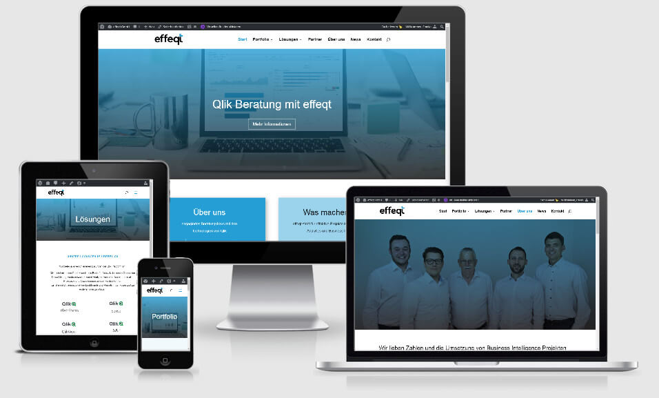 Webseite für die effeqt GmbH