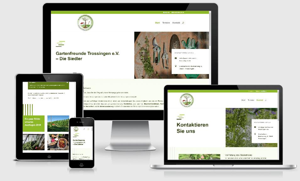 Website für die Gartenfreunde Trossingen e. V.