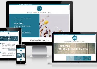 Homepage rundum-sorglos-Pakete für Handwerker