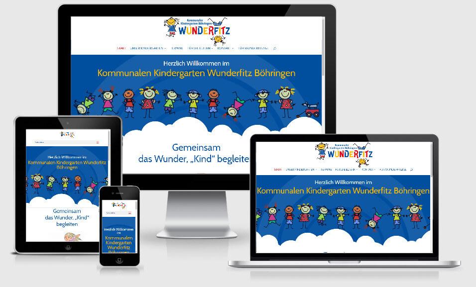 Webseite für den Kindergarten Wunderfitz Böhringen